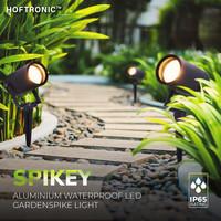 9x Spikey LED Prikspot 5 Watt 400lm 2700K zwart IP65 waterdicht