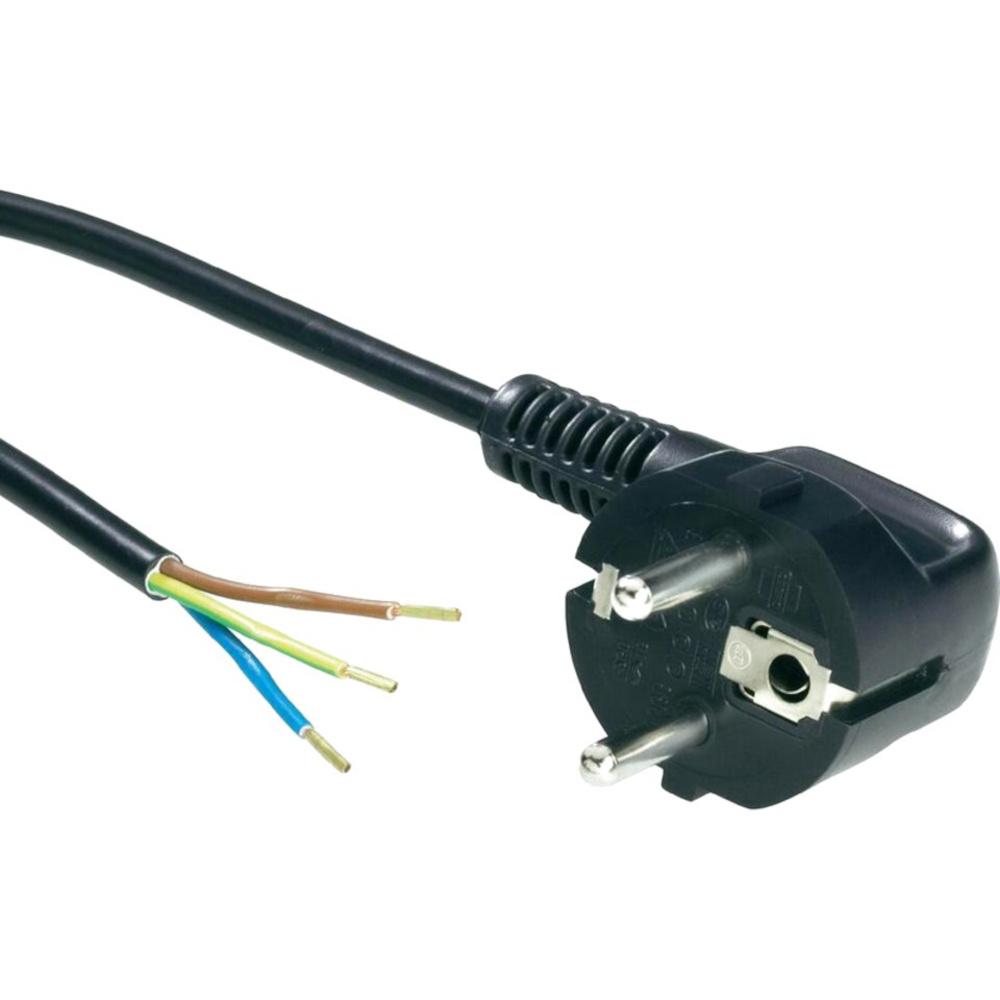 Netsnoer 5m 220V 3x0,75 mm² incl. stekker met randaarde