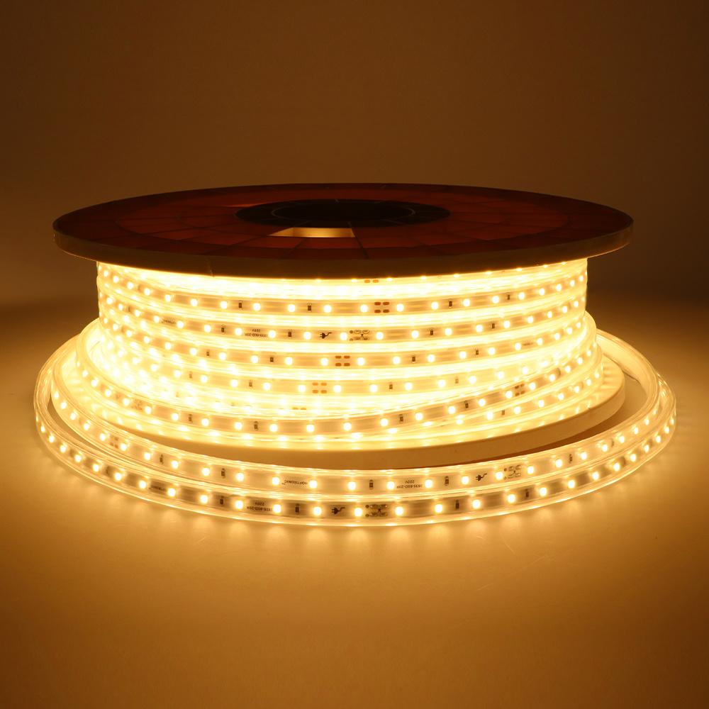 LED Lichtschlauch flach 50m Farbe 3000K warmweiß 60 LEDs/m IP65 Plug & Play