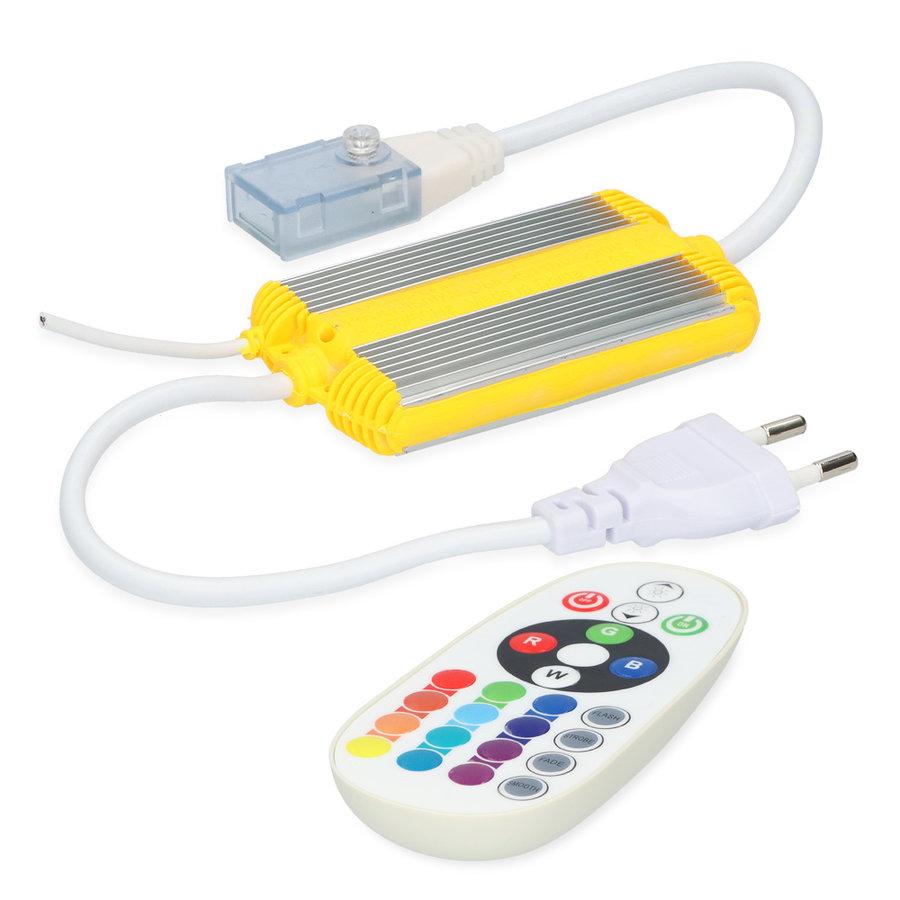 Dimmer LED Lichtslang RGB Plug & Play incl. RF afstandsbediening Flex60 Series
