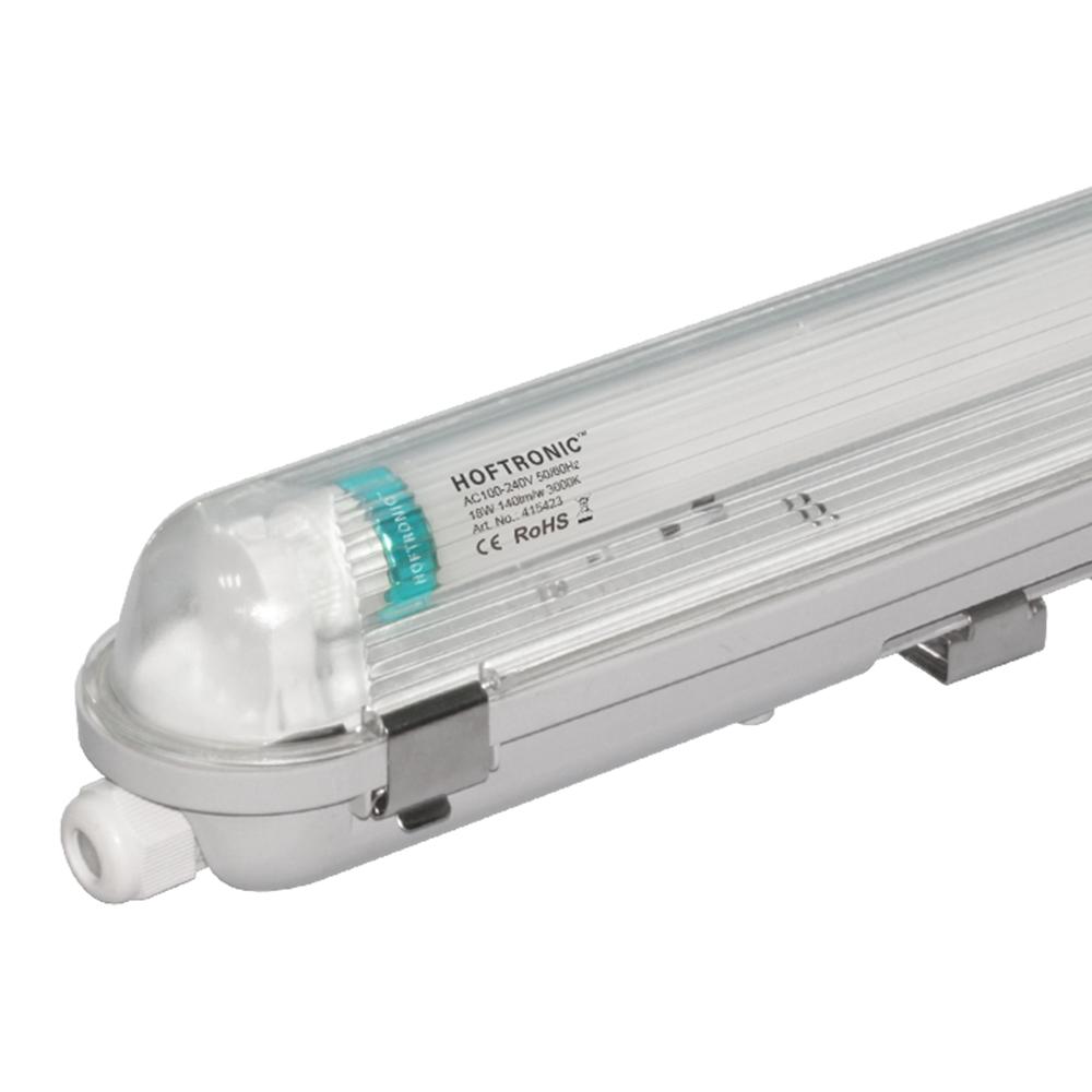 LED T8 TL Armatuur IP65 60 cm 3000K 9W 1260lm 140lm/W incl. flikkervrije LED buis Koppelbaar