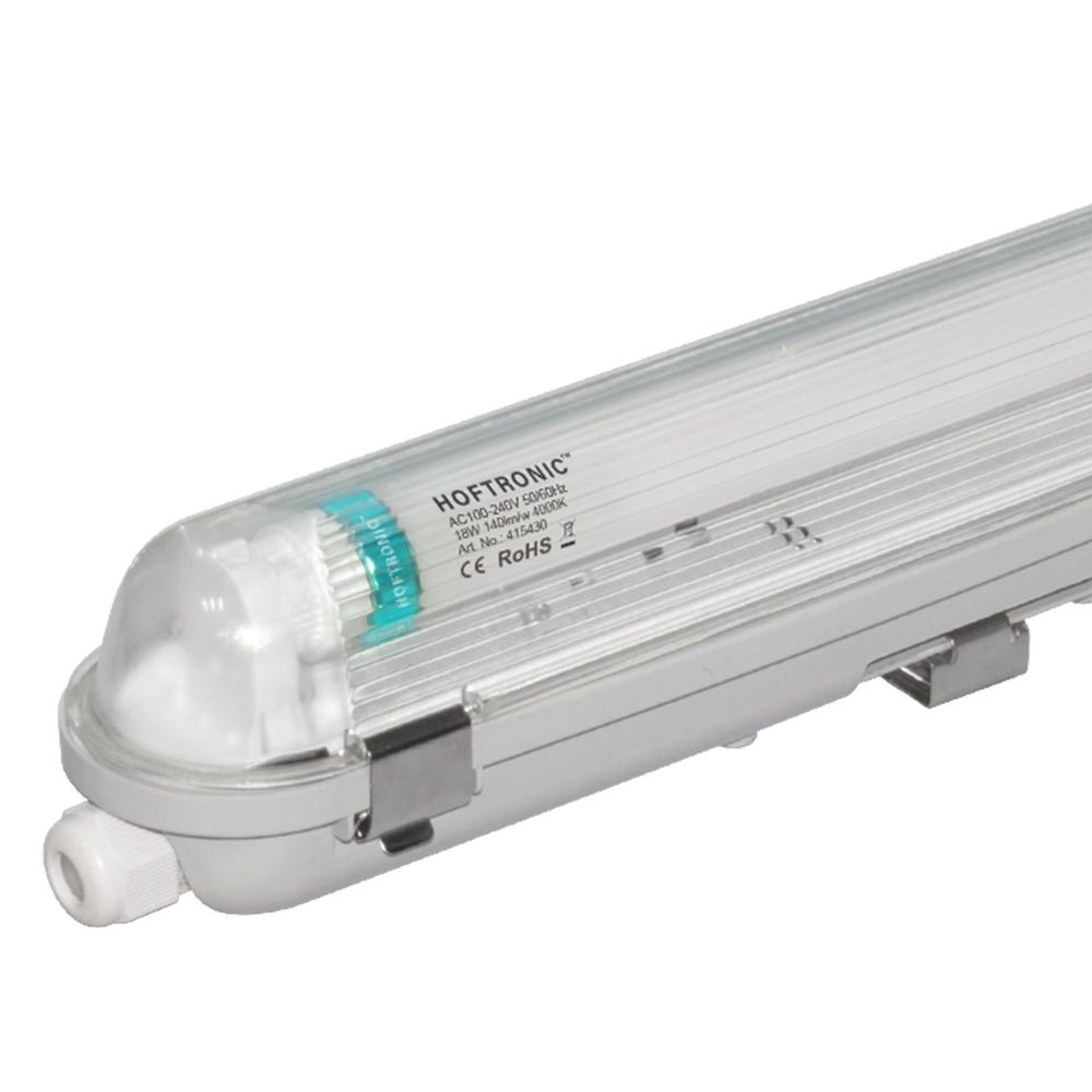 LED T8 TL Armatuur IP65 60 cm 4000K 9W 1260lm 140lm/W incl. flikkervrije LED buis Koppelbaar