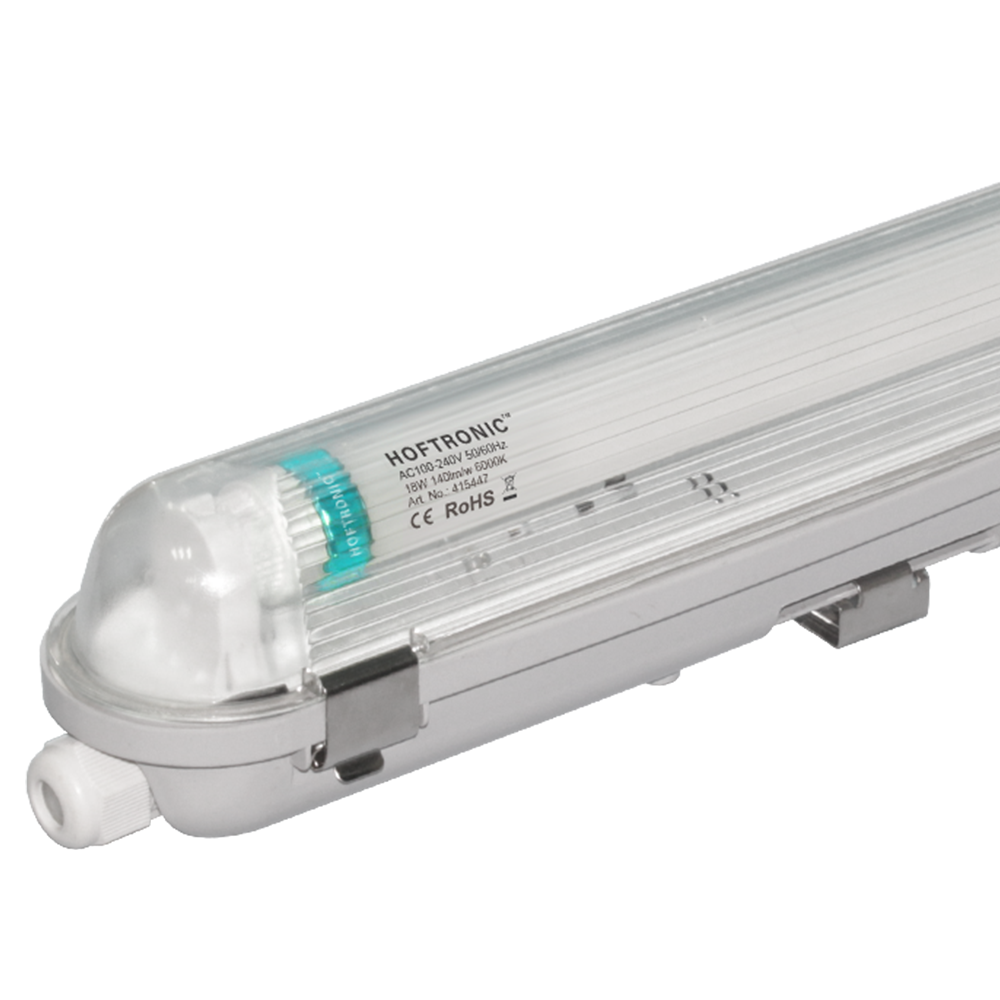 LED T8 TL Armatuur IP65 60 cm 6000K 9W 1260lm 140lm/W incl. flikkervrije LED buis Koppelbaar