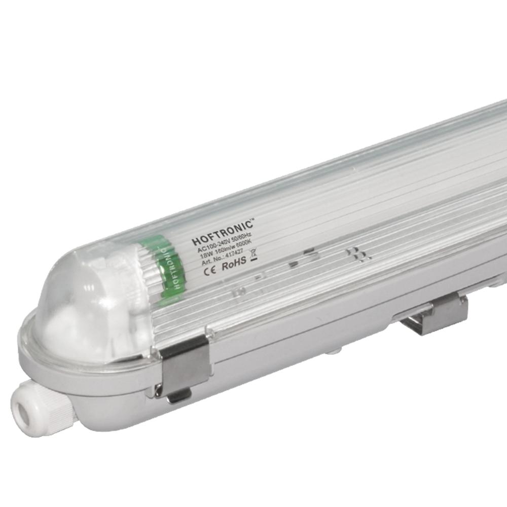 LED T8 TL Armatuur IP65 60 cm 6000K 9W 1440lm 160lm/W incl. flikkervrije LED buis Koppelbaar
