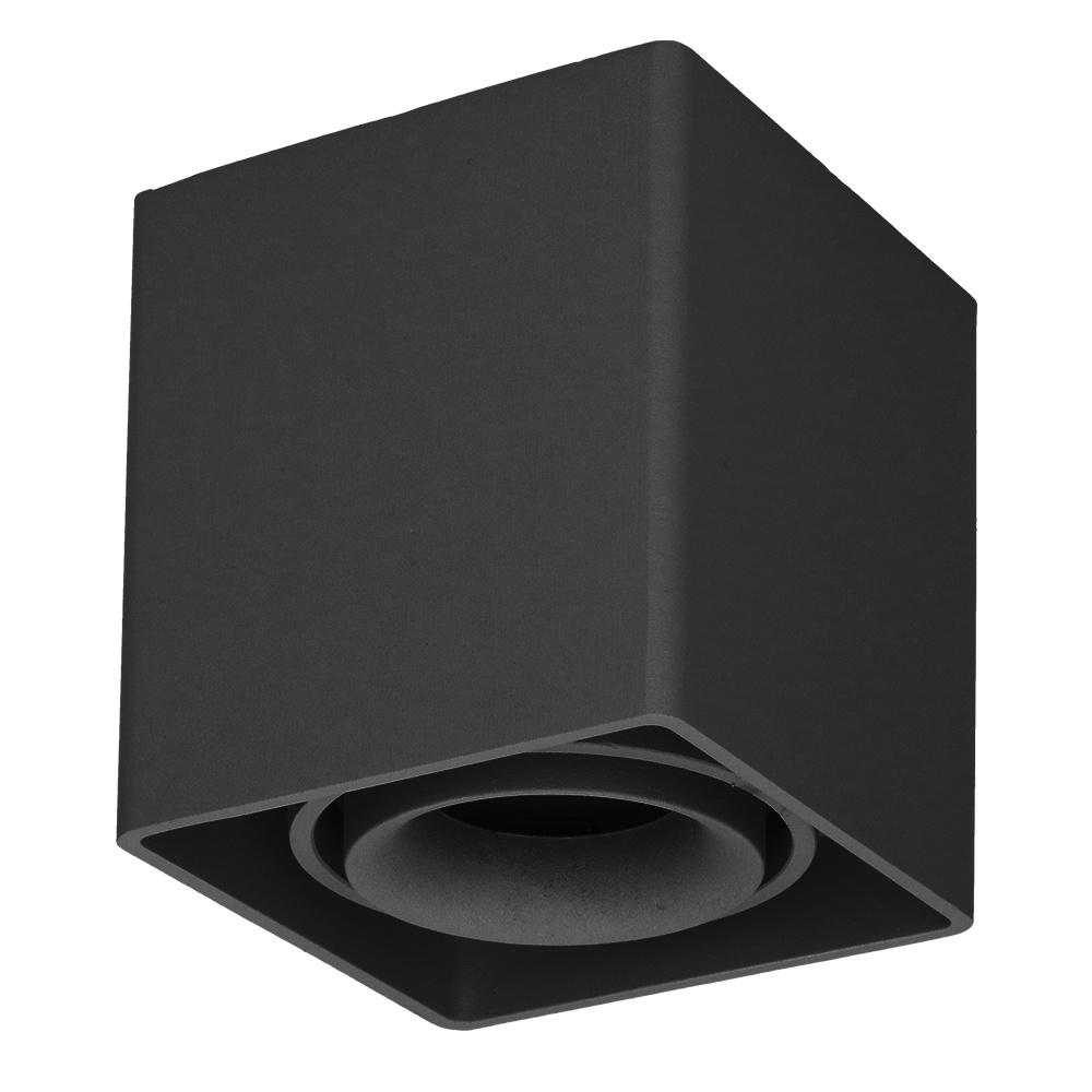 Dimbare LED opbouw plafondspot Esto GU10 Zwart IP20 kantelbaar excl. lichtbron