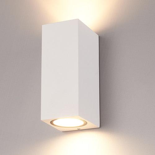 HOFTRONIC™ Dimmable LED wall light Selma White IP44 double-sided incl. 2x5 Watt 2700K GU10 spots