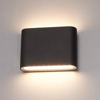 Dimbare LED Wandlamp Dallas S zwart 6 Watt 3000K tweezijdig oplichtend IP54 spatwaterbestendig 3 jaar garantie