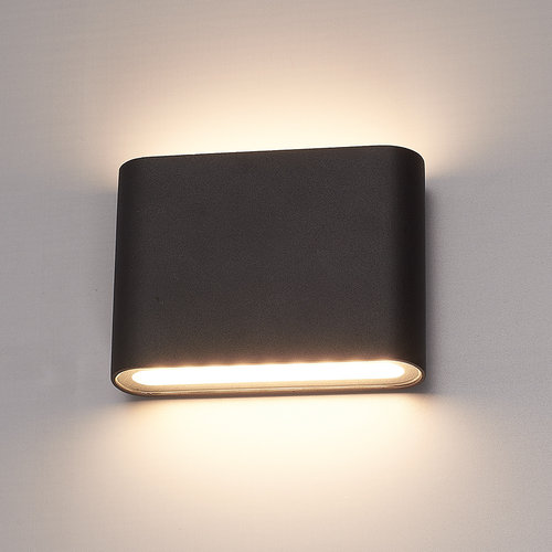 HOFTRONIC™ Dimmable LED Wall light Dallas S black 6 Watt 3000K double-sided illumination IP54