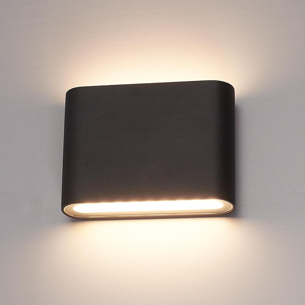 Dimbare LED Wandlamp Dallas S zwart 6 Watt 3000K Up & Down light IP54 spatwaterbestendig 3 jaar gara