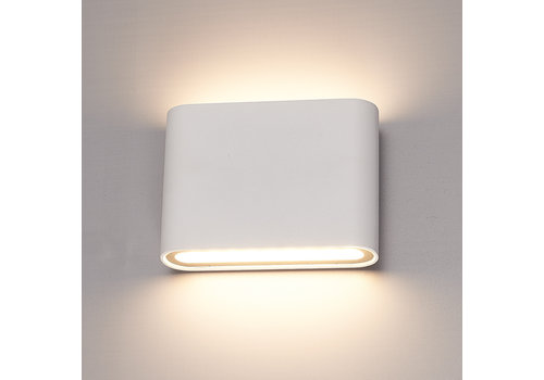 HOFTRONIC™ Dimmable LED Wall light Dallas S white 6 Watt 3000K double-sided illumination IP54