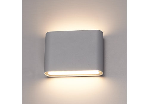 HOFTRONIC™ Dimmable LED Wall light Dallas S grey 6 Watt 3000K double-sided illumination IP54
