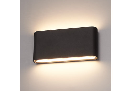 HOFTRONIC™ Dimbare LED Wandlamp Dallas M zwart 12 Watt 3000K tweezijdig oplichtend IP54