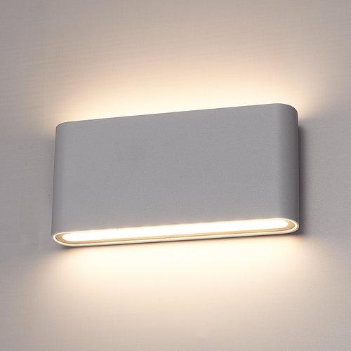 HOFTRONIC™ Dimmable LED Wall light Dallas M grey 12 Watt 3000K double-sided illumination IP54