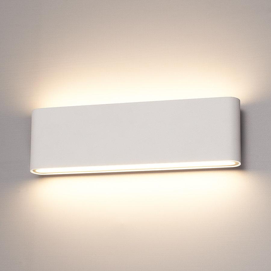 Dimbare LED Wandlamp Dallas XL wit 24 Watt 3000K tweezijdig oplichtend IP54 spatwaterbestendig 3 jaar garantie