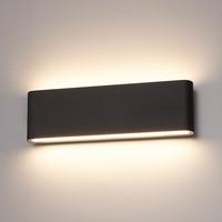 Dimbare LED Wandlamp Dallas XL zwart 24 Watt 3000K tweezijdig oplichtend IP54 spatwaterbestendig 3 jaar garantie