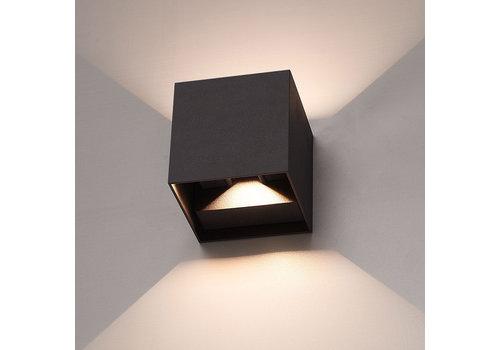 LED wall light 6 Watt Up-down lighting IP65 Black Cube