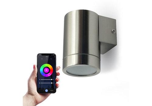 HOFTRONIC™ Smart WiFi LED wall light RVS RGBWW GU10 IP44