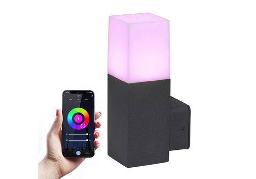 HOFTRONIC™ Smart WiFi LED wandleuchte Black square aluminum IP54