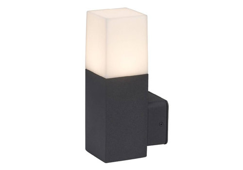 V-TAC Wall light GU10 Square Black Aluminum IP54