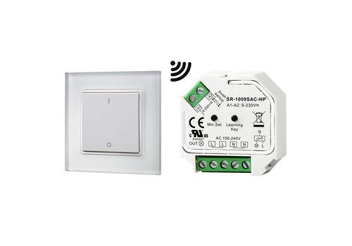 HOFTRONIC™ 1-kanaals draadloze LED muur dimmer incl. ontvanger max. 400W