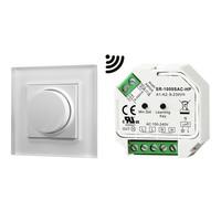 Draadloze LED muur dimmer met draaiknop inclusief ontvanger maximaal 400 Watt