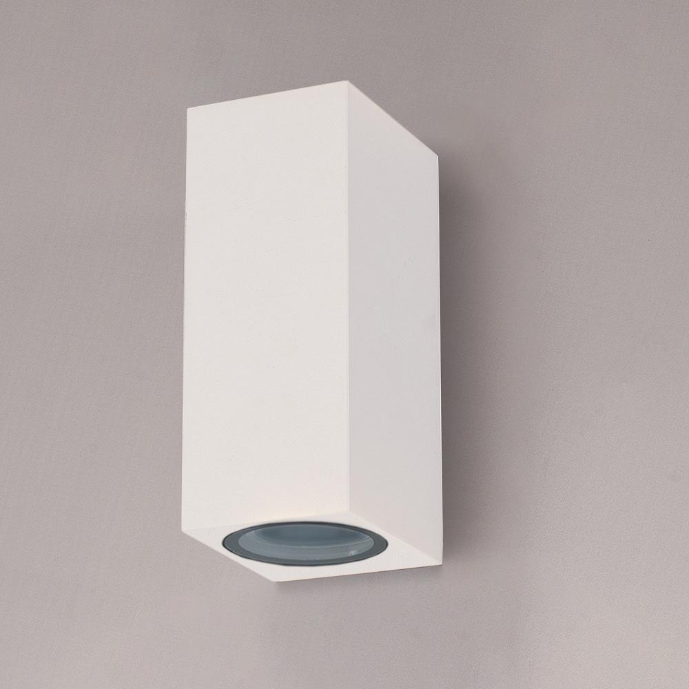 Dimbare LED wandlamp Selma Wit IP65 GU10 Up & Down light excl. lichtbronnen