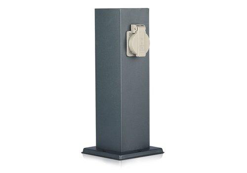 V-TAC Buitenstopcontact paal donker grijs IP44 - 2 stopcontacten