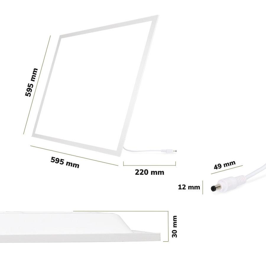 6x LED Paneel 60x60 cm 36 Watt 4500lm (125lm/W) High Lumen 6000K Flikkervrij 5 jaar garantie EIA Subsidie geschikt
