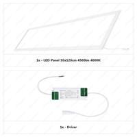 LED Paneel 30x120 cm 36 Watt 4500lm (125lm/W) High Lumen 4000K Flikkervrij 5 jaar garantie EIA Subsidie geschikt