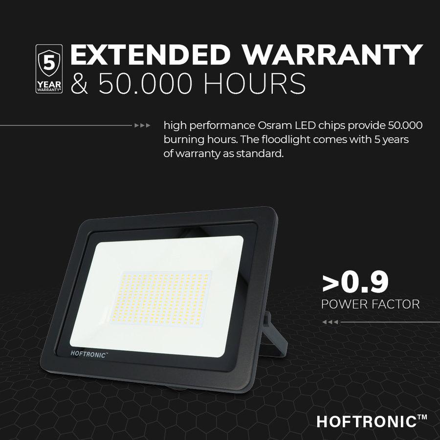 LED Breedstraler 150 Watt 4000K Osram IP65 vervangt 1350 Watt 5 jaar garantie