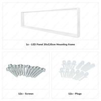 Opbouwframe voor Hoftronic LED panelen 30x120 cm