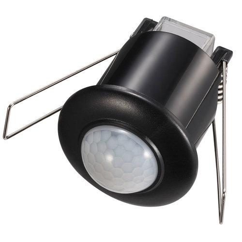 HOFTRONIC™ PIR bewegingssensor 360° bereik 6 meter Maximaal 300 Watt IP20 inbouw kleur zwart