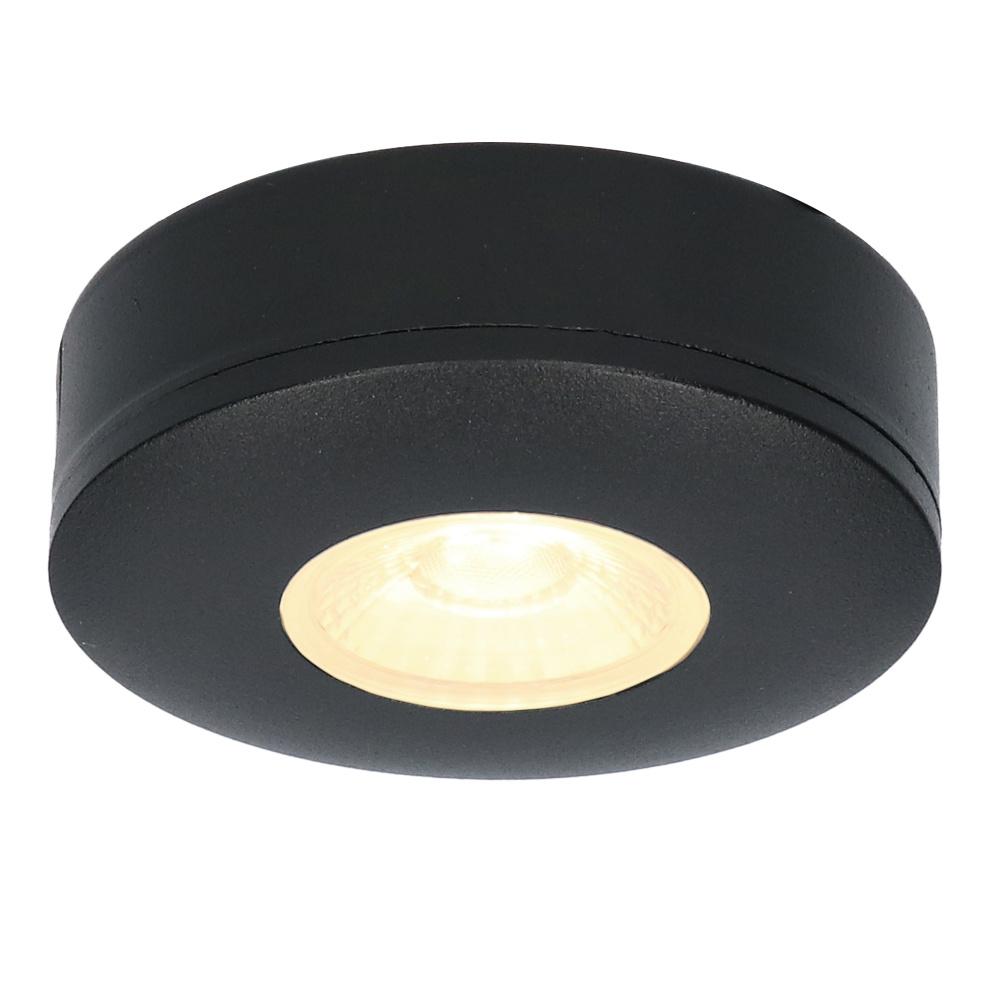 LED Opbouwspot Pavo zwart 3 Watt 2700K 260lm Ultra dun 23 mm