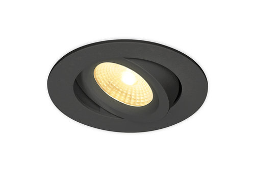 HOFTRONIC™ LED inbouwspot Salerno zwart 8 Watt 2700K IP44 kantelbaar