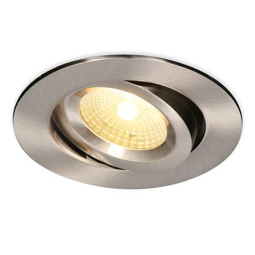 HOFTRONIC™ LED inbouwspot Salerno Roestvrij staal 8 Watt 2700K IP44 kantelbaar