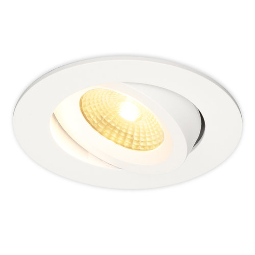 HOFTRONIC™ LED Downlight Salerno White 8W 2700K IP44 tiltable
