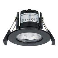 3x Nola LED inbouwspot zwart IP65 5W 2700K warm wit dimbaar 5 jaar garantie