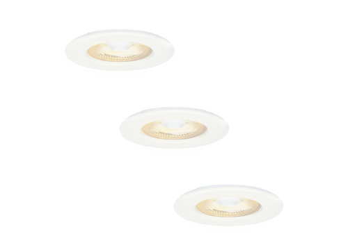 HOFTRONIC™ 3x Nola LED recessed downlight white IP65 5W 2700K warm white dimmable 5 years warranty