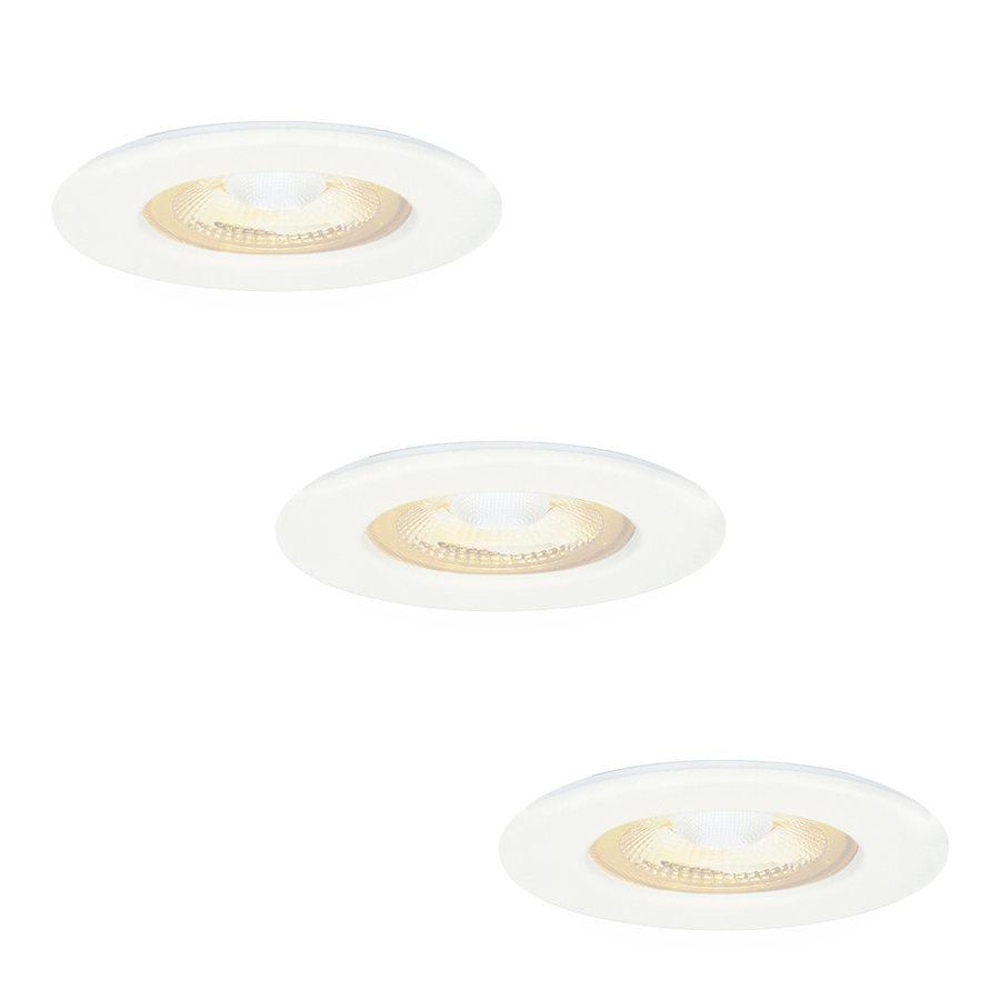3x Nola LED inbouwspot wit IP65 5W 2700K warm wit dimbaar 5 jaar garantie