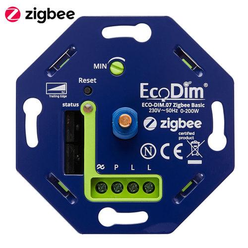 Ecodim Zigbee Inbouw smart LED dimmer 0-200 Watt Fase afsnijding