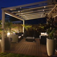Complete veranda set 16x3W dimbare Milano LED inbouwspots IP65