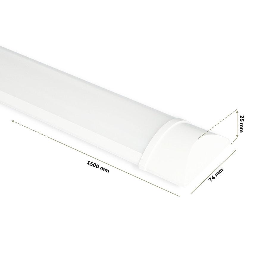 LED Batten 150 cm 50W 4000K 6000lm Samsung - 5 jaar garantie incl. montageklemmen & quick connector
