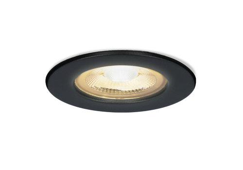HOFTRONIC™ Nola LED inbouwspot zwart IP65 5W 2700K warm wit dimbaar 5 jaar garantie