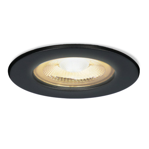 HOFTRONIC™ Nola LED recessed downlight black IP65 5W 2700K warm white dimmable 5 years warranty