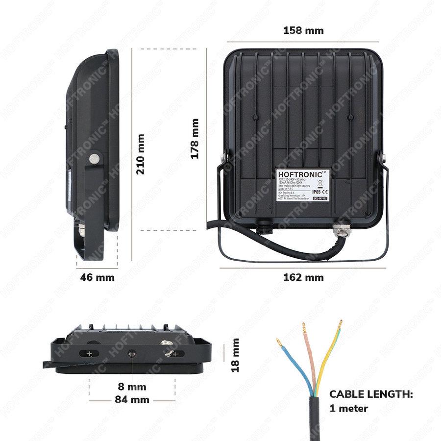 LED Breedstraler 30 Watt 160lm/W IP65 4000K 5 jaar garantie