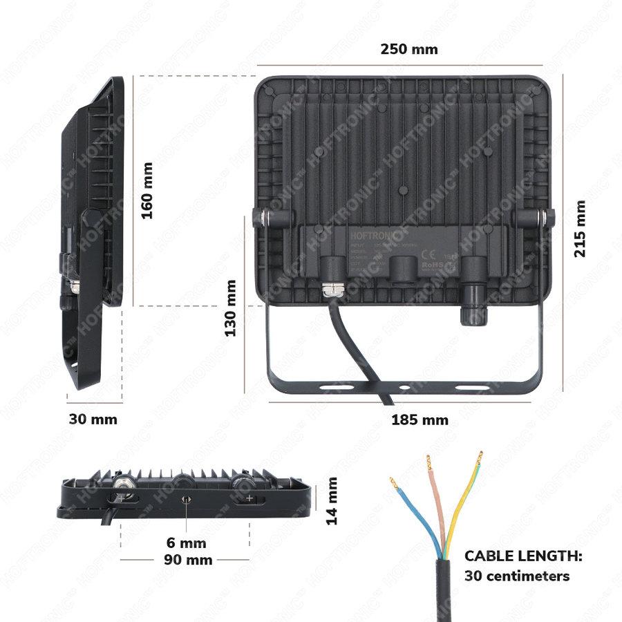 LED Breedstraler 50 Watt 6400K Osram IP65 vervangt 450 Watt 5 jaar garantie V2
