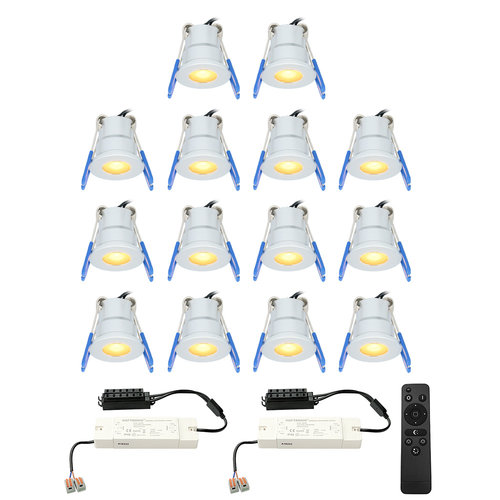HOFTRONIC™ Complete set 14x3W dimmable Milano LED porch lights IP65