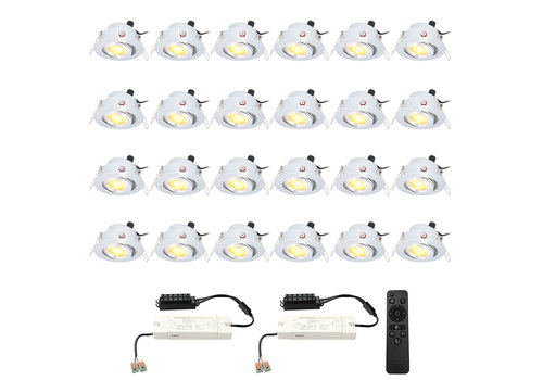 HOFTRONIC™ Complete set 24x3W dimmable LED spotlight Sienna 2700K IP44 12V