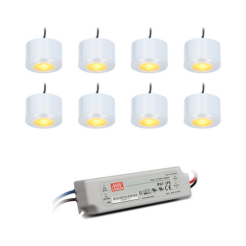 HOFTRONIC™ Complete set 8x3W non dimmable LED porch lights Navarra IP44