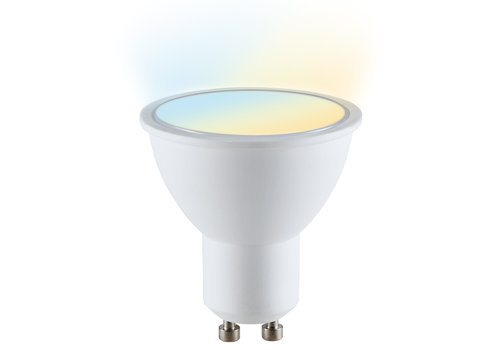 V-TAC GU10 SMART LED WW-CW Wifi 4.5 Watt 110° Dimbaar